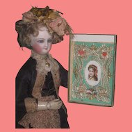 ELABORATE Antique Miniature Valentine Card for your ANTIQUE DOLL!