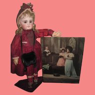 ENCHANTING Large Circa 1898 Antique Ullman Tinted Reverse Religious Photograph for MINIATURE BACKDROP!
