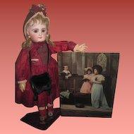 ENCHANTING Large Circa 1898 Antique Ullman Tinted Reverse Religious Photograph for MINIATURE BACKDROP!