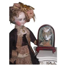 CHARMING Vintage Miniature Glass Bird Vignette for FASHION DOLL Display! - Red Tag Sale Item