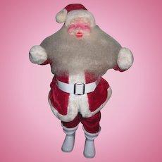 """CHARMING Vintage 15"""" Plush Santa Doll in Red Velvet!"""