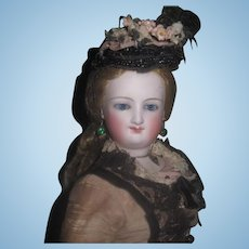 "SPECTACULAR All Original Deluxe 15"" Antique Bru Smiler Fashion Doll!"