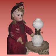 SWEET Vintage Hobnail Glass Miniature GWTW Lamp for DOLL DISPLAY!