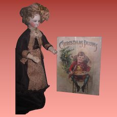 "ENCHANTING HTF Antique McLouglin Brothers Circa 1906 ""Christmas Plums"" Book with CHROMOLITHOGRAPHS!"