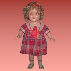 "SALE! Exceptional Factory Original Vintage 20"" Ideal Composition Shirley Temple Doll from ""BRIGHT EYES""!"