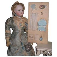 SALEW! Fantastic O-O-A-K Vintage Artist Miniature Baby Accessories on Presentation Card!