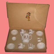 Complete Antique German Miniature Toy Teaset in Original Box~Great SMALLER SCALE!
