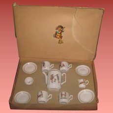 SALE! Complete Antique German Miniature Toy Teaset in Original Box~Great SMALLER SCALE!