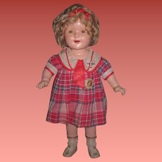 "INVENTORY SALE! Exceptional Vintage Original 20"" Ideal Composition Shirley Temple Doll from ""BRIGHT EYES""!"