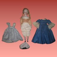 """Sweet 12"""" Antique German ABG Young Girl Doll in CHARMING ENSEMBLE!"""