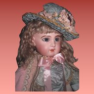 "MAGNIFICENT Rare Large 28"" Antique Size 13 French EJ Jumeau Bebe in Couture Outfit~A SHOWSTOPPER!"