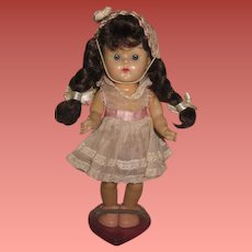 "CHARMING All Original 7"" Vintage Vogue Ginny Doll in PINK ORGANDY!"