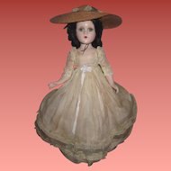 "FABULOUS 18"" All Original Composition Madame Alexander Scarlett O'Hara Doll in RARE OUTFIT!"