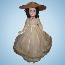"""FABULOUS 18"""" All Original Composition Madame Alexander Scarlett O'Hara Doll in RARE OUTFIT!"""