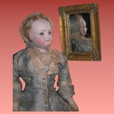 FANCY French Style Miniature Fashion Doll Rectangular Gilded Mirror!