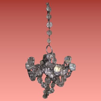 RARE Vintage Six Arm Miniature Crystal Chandelier~EXQUISITE!