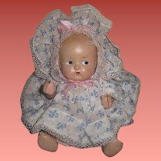 "ADORABLE Factory Original Vintage 8"" Composition Baby Doll!"