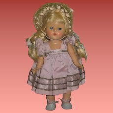 FABULOUS Factory Original Vintage Vogue Ginny Doll in BLUE TAFFETA!