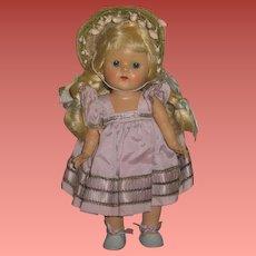 FABULOUS Factory Original Vintage Vogue Ginny Doll in BLUE TAFFETA!
