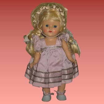 FABULOUS Factory Original Vintage Vogue Ginny Doll in LILAC TAFFETA!