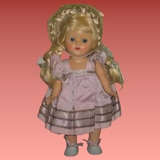 INVENTORY SALE! Fabulous Factory Original Vintage Vogue Ginny Doll in LILAC TAFFETA!