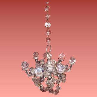 Rare Vintage Six Arm Miniature Crystal Chandelier~EXQUISITE!