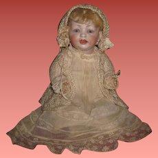 "EXCEPTIONAL All Original Antique 11 1/2"" Hertel & Schwab German Character Baby Doll!"