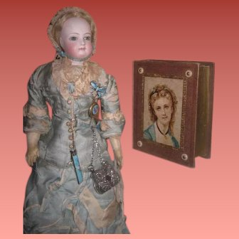 EXQUISITE Rare Antique Victorian Miniature Sewing/Necessaire Book Etui!