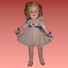 """SALE! Very Rare Vintage """"Nine-Year-Old"""" Factory Original Ideal Composition Shirley Temple Doll~MINTY!"""
