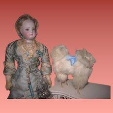 REDUCED PRICE! CharmingVintage/Antique Miniature French Fashion Doll Toy Spitz Salon Dog!