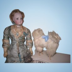 REDUCED PRICE! CharmingVintage/Antique Miniature French Fashion Doll Toy Spitz Salon Dog!