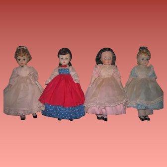 "SALE! All Original Set of Vintage Madame Alexander ""Little Women"" Dolls~LISSY & NANCY DREW Faces!"