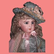 """HOLIDAY PRICE! Magnificent Rare Large 28"""" Antique Size 13 French EJ Jumeau Bebe in Couture Outfit~A SHOWSTOPPER!"""