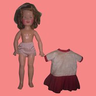"""SWEET Vintage Ideal Toy Company 12"""" Vinyl Shirley Temple Doll!"""