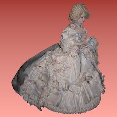 """ELABORATE 8"""" Vintage Artist """"Marie Antoinette"""" Style French Lady Doll!"""