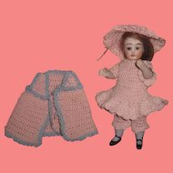 FABULOUS 5 Piece Antique Pink Hand Knit Outfit for your ALL BISQUE Doll!