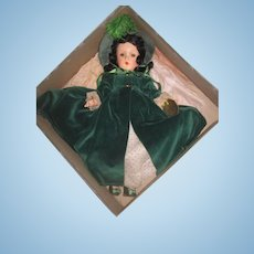 "MAGNIFICENT Rare Mint-In-Box Factory Original Madame Alexander 14"" Composition Scarlett O'Hara Doll!"