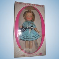 "SALE! Exceptional 15"" MIB Vintage Ideal Toy Company Vinyl Shirley Temple Doll with ACCESSORIES!"