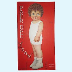 CHARMING Circa 1928 Uncut Queen Holden Large Size Paper Doll Book!