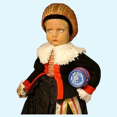 """18"""" Lenci Girl in Costume of Northern Italy with Tags"""