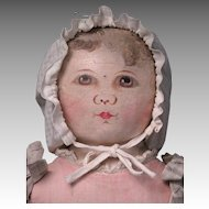 "19"" Early Columbian Cloth Doll, Emma Adams"
