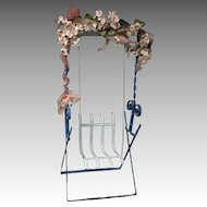 Metal Garden Swing for your Small Antique Dolls
