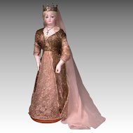 "16 1/2"" Radiquet & Cordonnier RC Fashion Statuesque Lady with Rare Signature Body and Marked Stand"