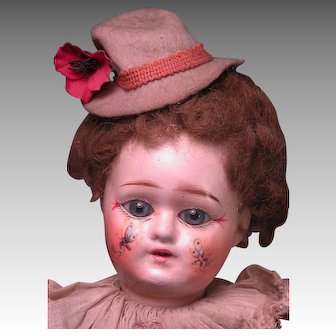 "14"" Factory Original French Clown with Decorated Face"