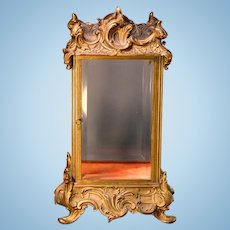 Art Nouveau Bronze Table Top Display Case - Double Sided