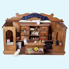 French Epicerie Food Shop as Room Box for Play Time or Display Time
