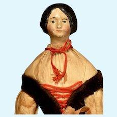 "10 1/2"" Milliners Model in Original Country Region Costume"