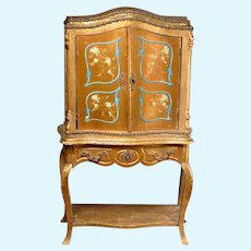 French Rococo Style Antique Fashion Sized Cabinet