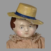 "6 1/4"" Rare Early Squeaker with Molded Hat"