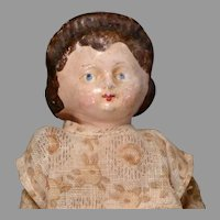 Early Paper Mache Squeaker with Alice Hairdo